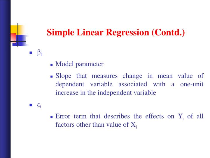 Simple Linear Regression (Contd.)