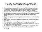 policy consultation process