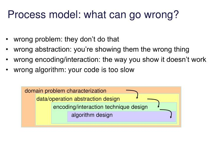 Process model: what can go wrong?