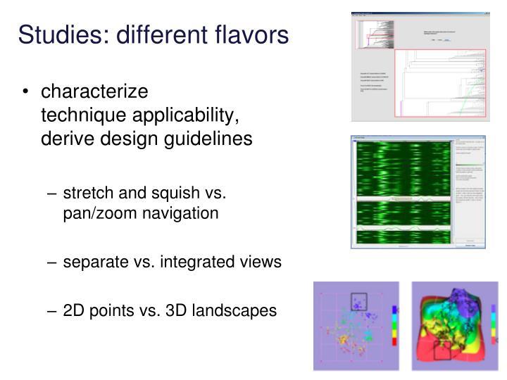 Studies: different flavors