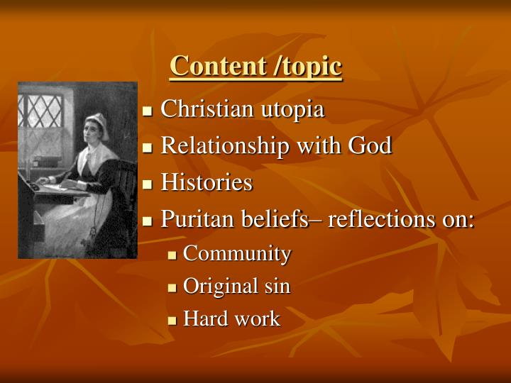 Content /topic