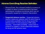 adverse event drug reaction definition