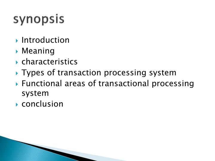 transaction processing system types
