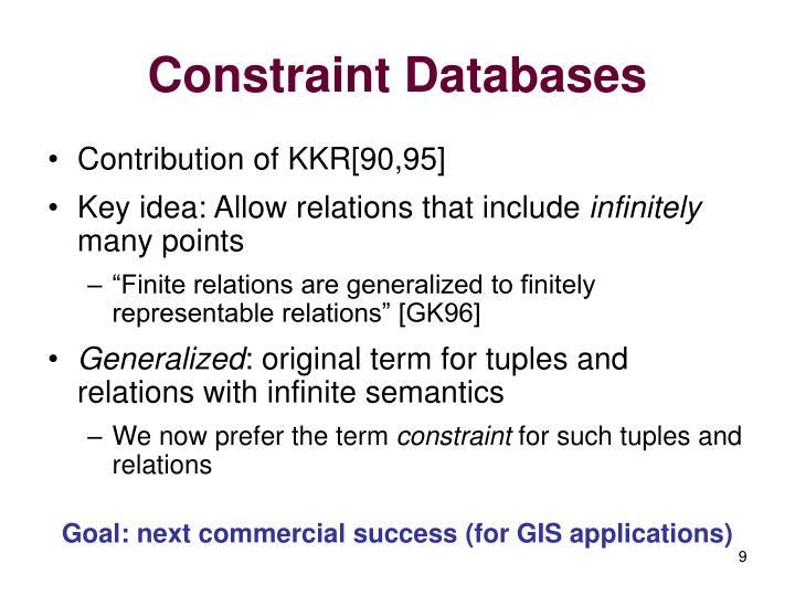 Constraint Databases