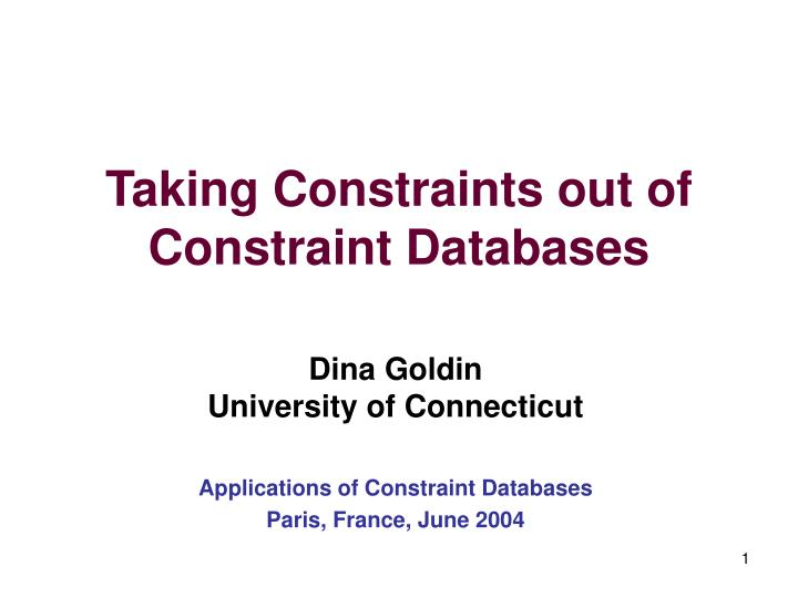 Taking constraints out of constraint databases