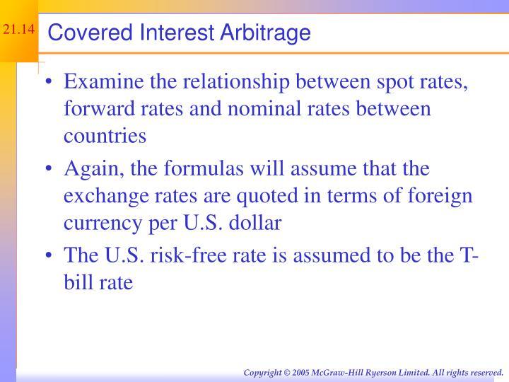 Covered Interest Arbitrage