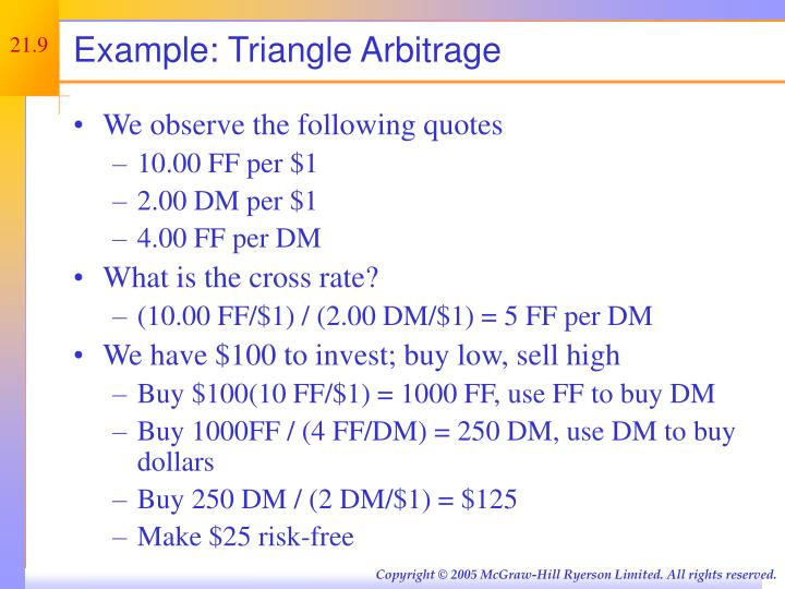 Example: Triangle Arbitrage