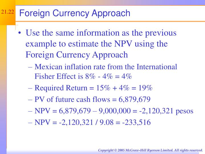 Foreign Currency Approach