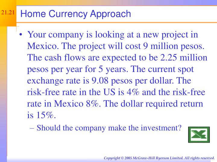 Home Currency Approach