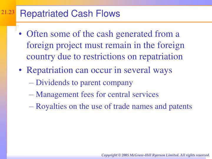 Repatriated Cash Flows