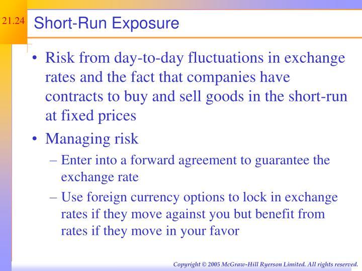 Short-Run Exposure