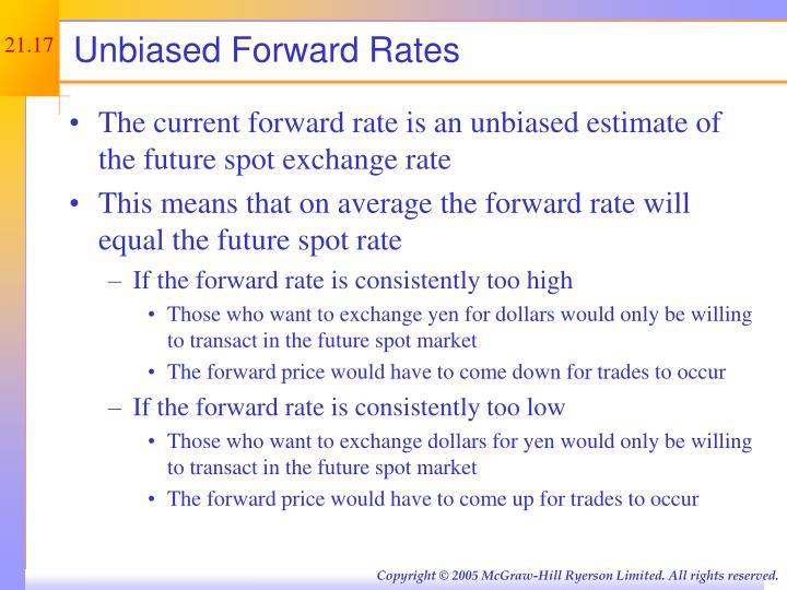 Unbiased Forward Rates