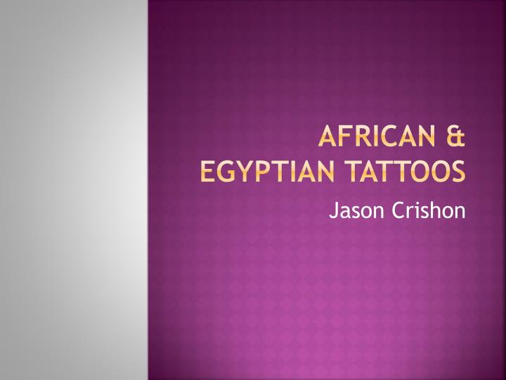 African egyptian tattoos