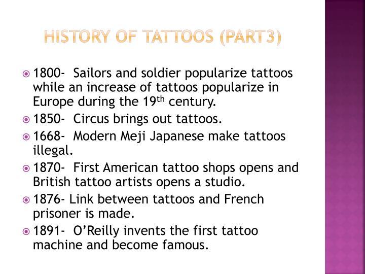 History of tattoos (