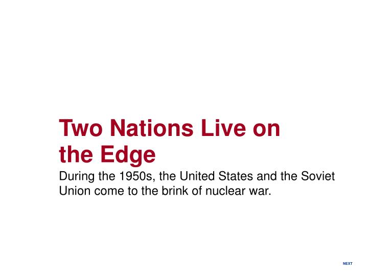 Two Nations Live on