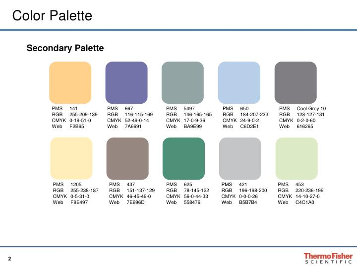 how to create a secondary colour palette powerpoint