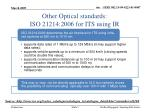 other optical standards iso 21214 2006 for its using ir