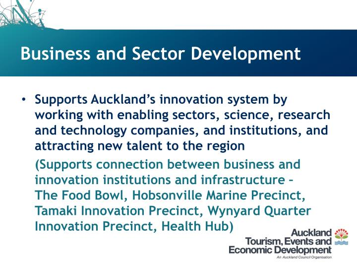 Business and Sector Development