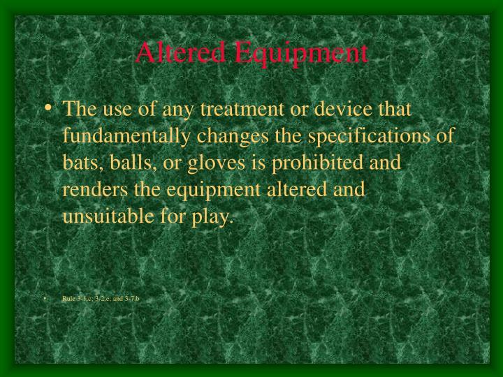 Altered Equipment