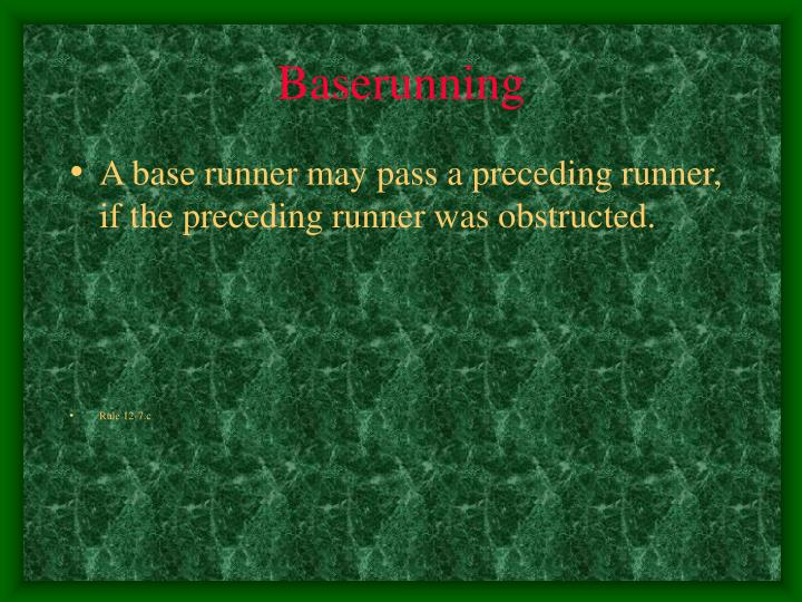 Baserunning