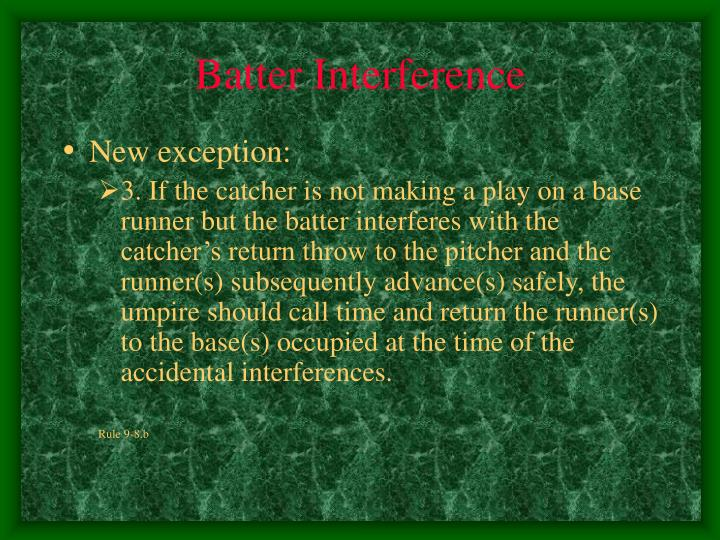 Batter Interference