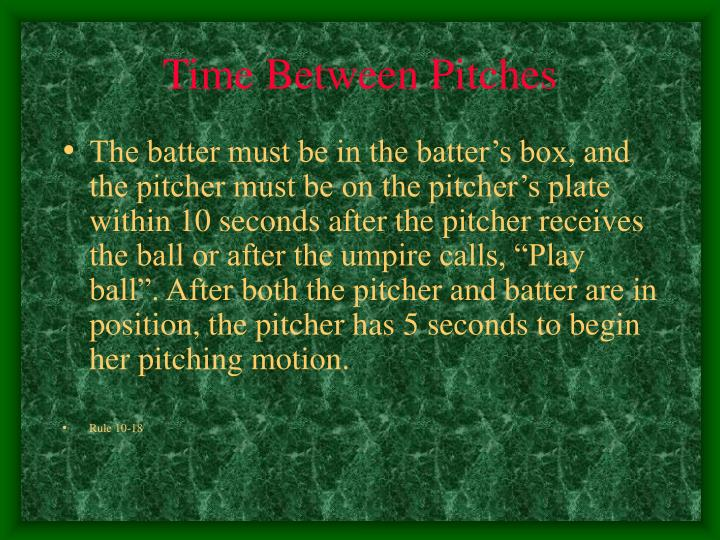 Time Between Pitches