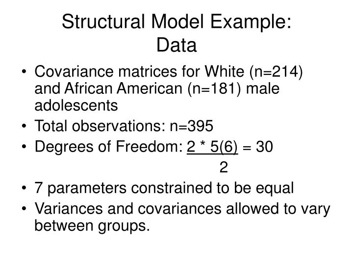 Structural Model Example: