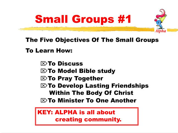 Small Groups #1