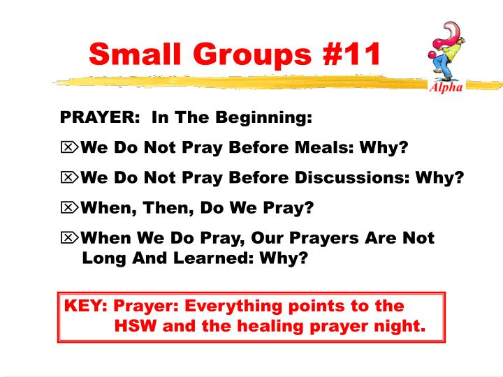 Small Groups #11