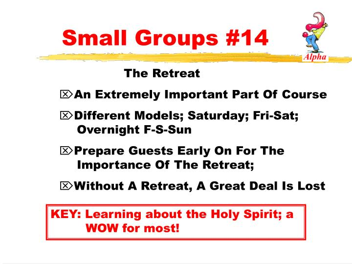 Small Groups #14