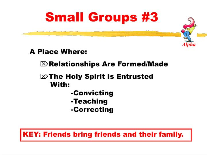 Small Groups #3