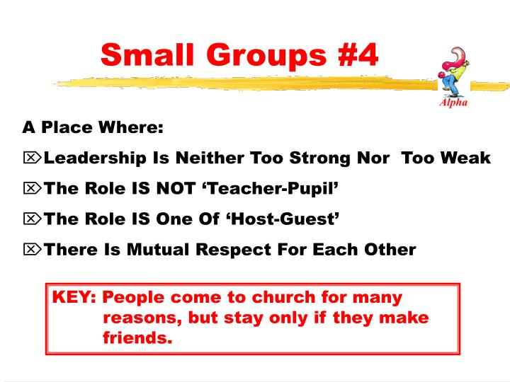 Small Groups #4