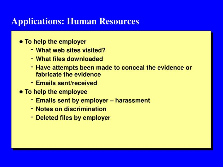 Applications: Human Resources