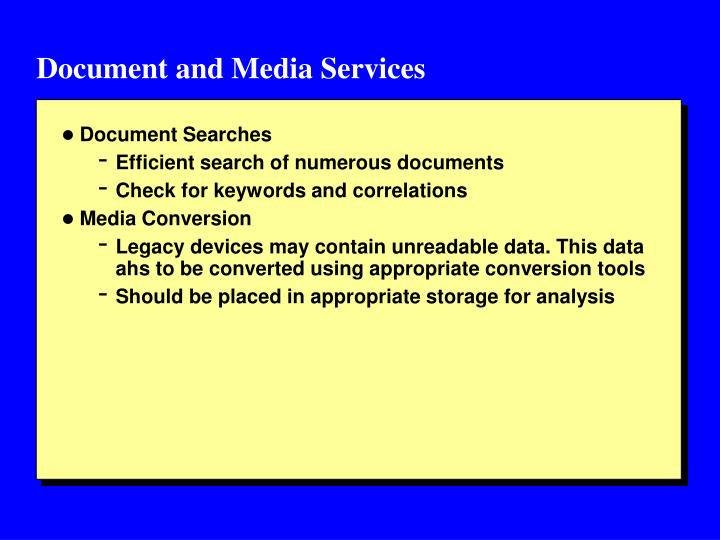 Document and Media Services