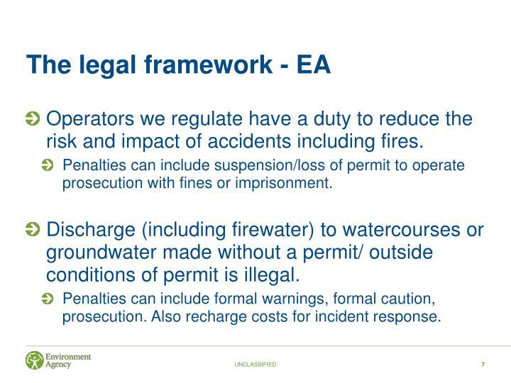 The legal framework - EA