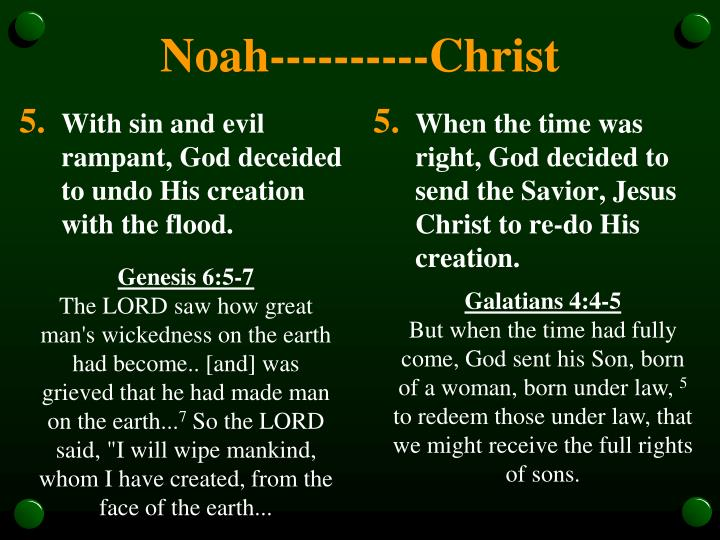 With sin and evil rampant, God deceided to undo His creation with the flood.