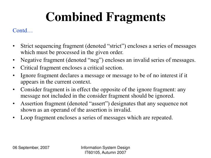 Combined Fragments