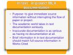in text in project mla documentation