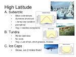 high latitude