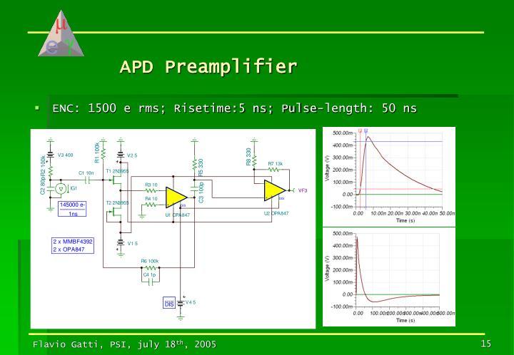 APD Preamplifier