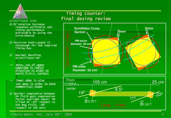 Timing counter final desing review