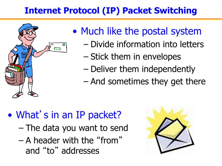 Internet Protocol (IP) Packet Switching