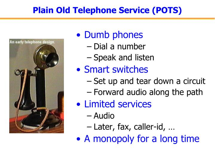 Plain Old Telephone Service (POTS)
