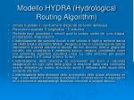 modello hydra hydrological routing algorithm