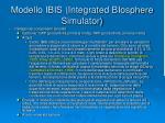 modello ibis integrated biosphere simulator6
