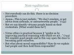 non egalitarian