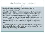 the developmental account