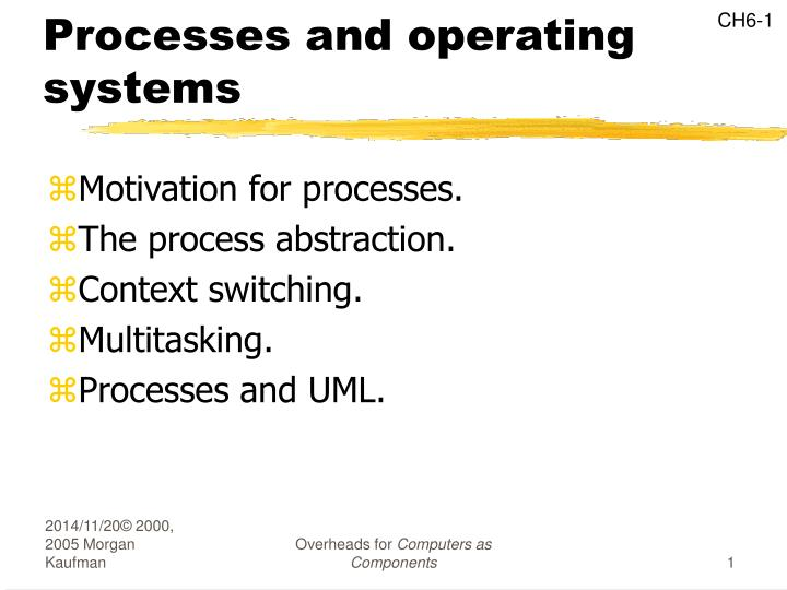 processes and operating systems n.