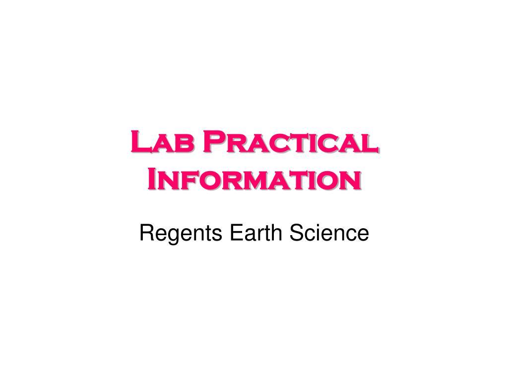 PPT - Lab Practical Information PowerPoint Presentation - ID