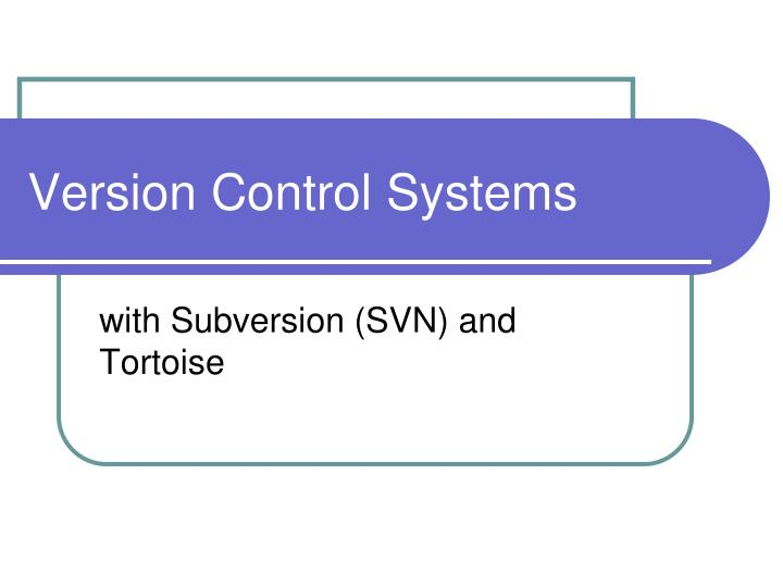 version control systems n.